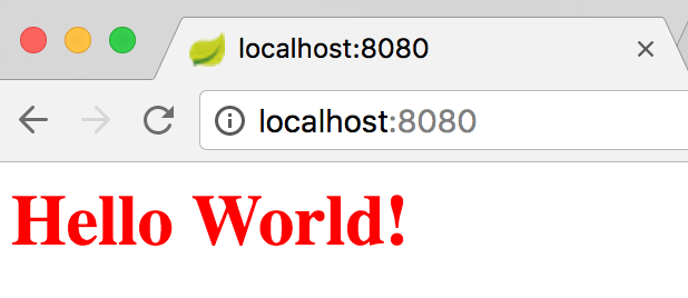 Springboot Hello world