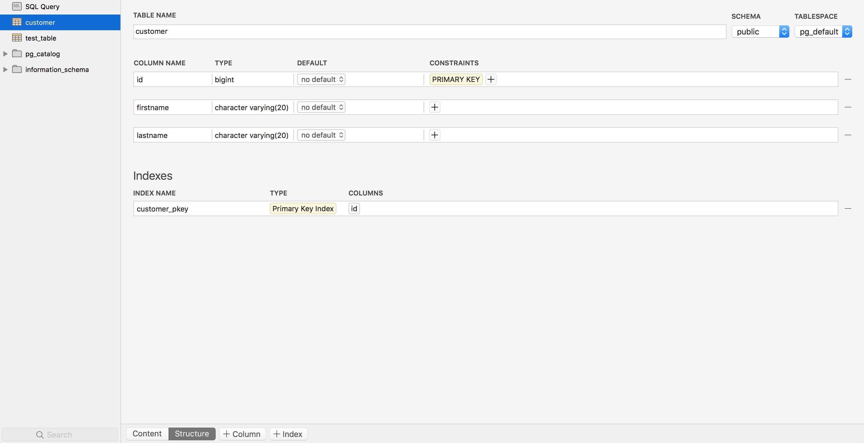 Add columns to a table in postgresql database using postico